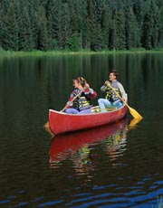 Canoe ride; Actual size=180 pixels wide